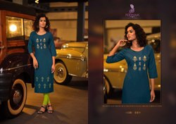 Poonam Lekha Malai Handwork Fancy Wear Embroidery Kurti Collection