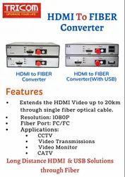 TRICOM HDMI to FIBER Converter (Extends the HDMI Video upto 20km)