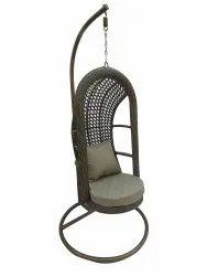 Hanging Swing, Single Seater, GC-152, Brown cum Honey, Khakhi Cushion