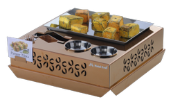 Rose Gold Square Snacks Set