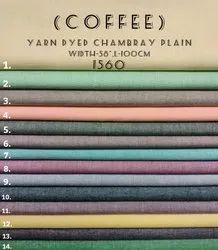Yarn Dyed Chambray Plain Shirting Fabric