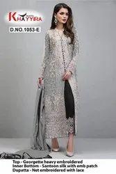 Khayyira Blockbuster 1053 Pakistani Dress Material