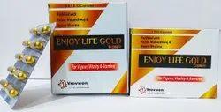 ENJOY LIFE GOLD Capsules, Packaging Type: Box