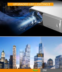T6 LCD 3500 Lumens LED 1080p Projector 3D Portable Mini 4K Home Projector