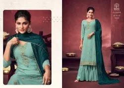 Ladies Embroidered Palazzo Suit