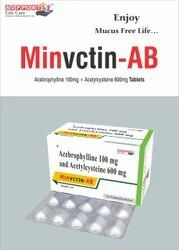 Acetylcystine 600mg + Acebrophylline 100mg