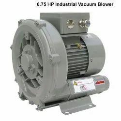 Single Stage Aluminum 0.75 HP Industrial Vacuum Blower