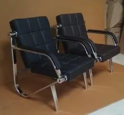 Modern Black Sofa Chair, For Office, Back Style: Tight Back