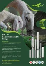 6 5HP DC Solar Submersible Pump Set With Controller