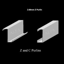 2.68mm Hot Rolled Stainless Steel Z Purlin