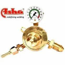Brass LPG Asha Single Stage Single Meter Gas Regulators, For Industrial