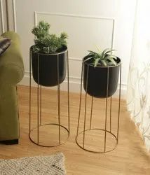 Decorative Metal Planter With Stand
