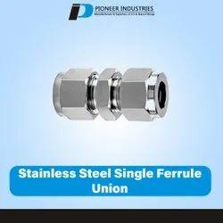 Stainless Steel Single Ferrule Union