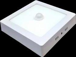 Aluminium Motion Sensor LED Surface Panel Light, 6w-24w