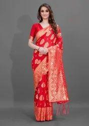 Woman Silk Cotton Saree