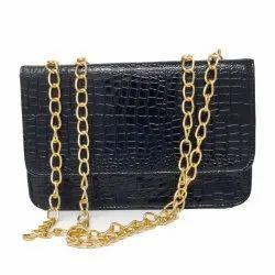 Women''''s Handbag With Chain Crocodile Pattern