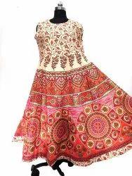 Ladies Bagru Print Maxi Dress