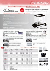 Shimadzu Balance  AP, AT-R , UP, TW/TX/TXB,TWC/TXC/TW/TX/ TXB,Moisture Balance & Electronic Printer