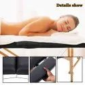 3 Section Foldable and Portable Wooden Massage Table with carrying Case