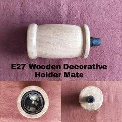 E27 Wooden Decorative Holder Mate