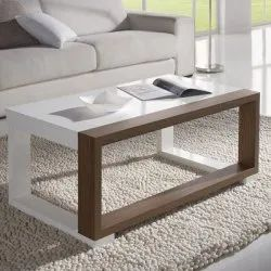 White And Walnut Center Table (Without Glass)