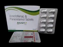 AVUSET P ACECLOFENAC & PARACETAMOL TABLETS  20X10