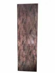 Glossy Rectangle Dark Brown PVC Door, For Office, Exterior