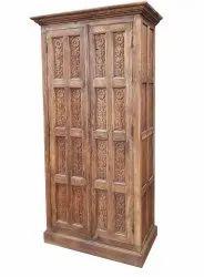 2 Doors Brown Wooden Almirah