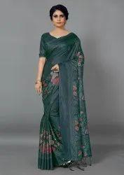 Woman Manipuri Digital Printed Saree