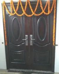 Swing double leaf Metal Security Door, For Residential