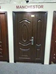 Standard Brown Modern Double Leaf Door, For Home, Material Grade: Mild Steel