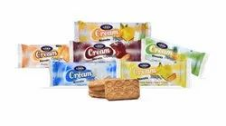 Cream Biscuits, Packaging Type: Packet