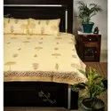 King Size 3 Layered 100%, Block Printed, Cotton Sheet Filled Quilted Bedcover With 2 Pillow Cases.