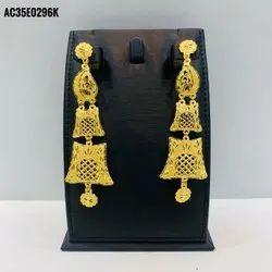 Indian Earrings For Women 2021 Trend Ethnic Gold-plated Earrings