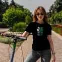 iKraft Women's Slim Fit Black T-Shirt