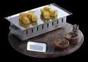 Rectangular/Round Snacks Warmer Wooden Snack Service Set