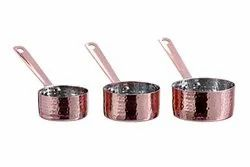 Copper Finished Hammered Mini Dip Saucepan/Frypan