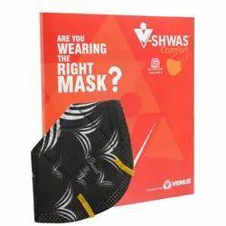 Venus V-Shwas Comfort Black N95 FFP3 Mask