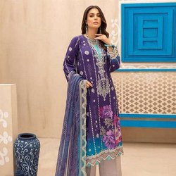 Pure Lawn Cotton  Embroidery Suits
