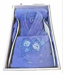 shreeji Multicolor Bathrobe Towel Set, For Bathroom, 250-350 GSM