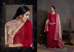 Unstitched Woolen Pashmina Suit