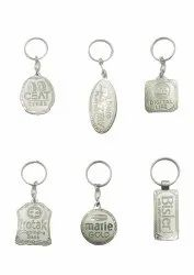 Metal Spark Nickel Keychain, For Gift,promotional