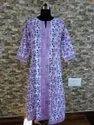 Hand Block Printed 3/4 Sleeves Cotton Kurti Exporters