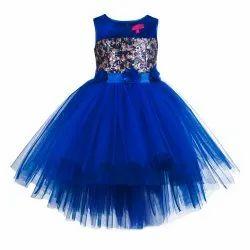 Party Wear Women TBJN21-10BL Toy Balloon Kids Fashion Blue Dress, Size: 1 To 11 Years