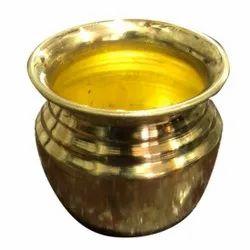 Golden Brass Kalash, For Worship