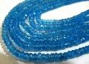Natural Topaz 4 To 5mm Rondelle Faceted Beads Swiss Blue Topaz Color Gemstone Strand 13 Inches Long