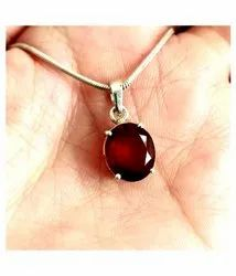 Natural Ruby Pendent (silver)