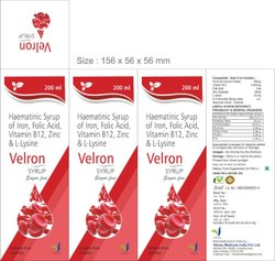 Velron Ferrous Ascorbate Folic Acid Zinc Syrup, 200 ml
