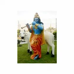 Special Combo Pack Of The White Cow And Krishna