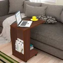 Kawachi Side Table With Storage Shelves, Sofa Couch Coffee And Table Bedside Table  With Wheels